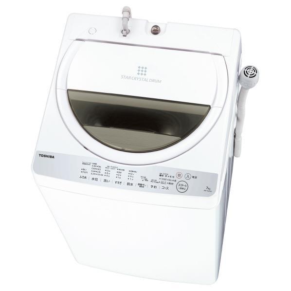 東芝 7.0kg全自動洗濯機 グランホワイト AW-7G6(W) [AW7G6W]【RNH】