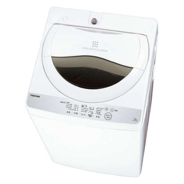 【送料無料】東芝 5.0kg全自動洗濯機 グランホワイト AW-5G6(W) [AW5G6W]【RNH】