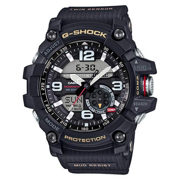 カシオ 腕時計 G-SHOCK MUDMASTER ブラック・ゴールド差し色 GG-1000-1AJF [GG10001AJF]