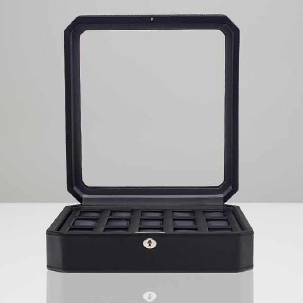 WOLF 15ピースウォッチボックス Windsor ブラック 4585029 [4585029]【MSSP】