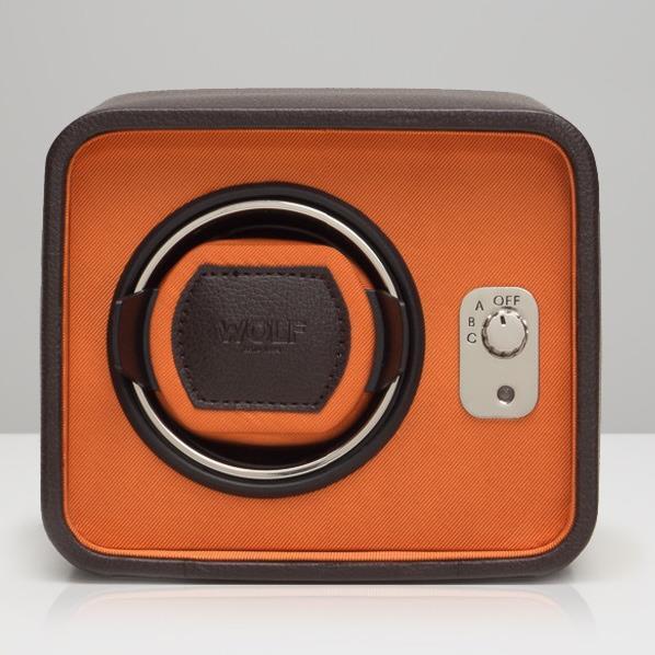 WOLF シングルウォッチワインダー Windsor ブラウン/オレンジ 452406 [452406]