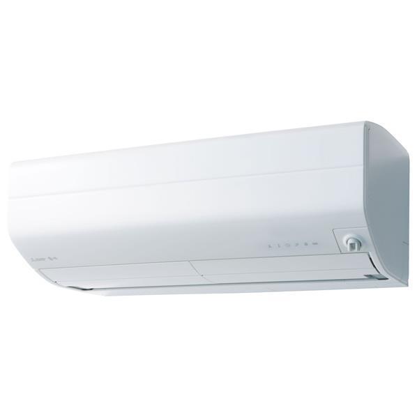 【標準設置工事費込み】三菱 18畳向け 自動お掃除付き 冷暖房インバーターエアコン KuaL ピュアホワイト MSZ-EM5618E6S-Wセット [MSZEM5618E6SWS]【RNH】