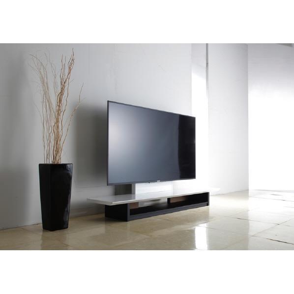 朝日木材 ~65V型まで対応 テレビ台 KuaL ホワイトハイグロス AS-WF1500 [ASWF1500]