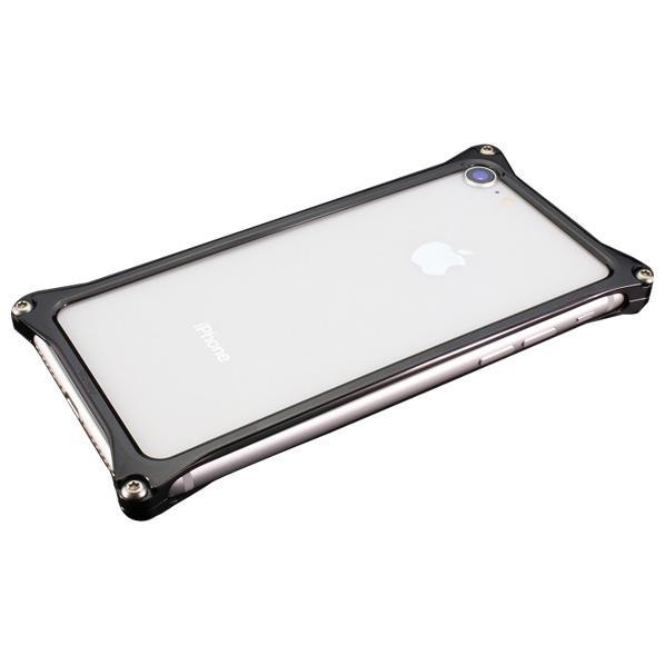 ギルドデザイン iPhone 8/7用アルミ製ソリッドバンパーケース ポリッシュブラック GI-402PB [GI402PB]