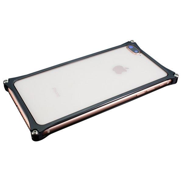 ギルドデザイン iPhone 8Plus/7Plus用アルミ製バンパーケース ポリッシュブラック GI-412PB [GI412PB]