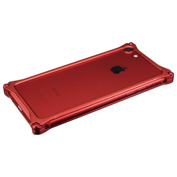 ギルドデザイン iPhone 8/7用アルミ製ソリッドバンパーケース マットレッド GI-402MR [GI402MR]