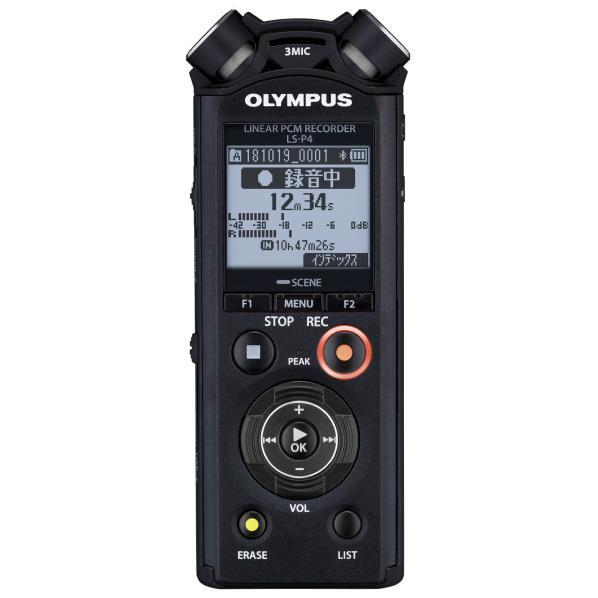 オリンパス ICレコーダー(8GB) LSシリーズ ブラック LS-P4 BLK [LSP4BLK]【RNH】