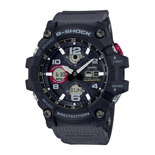 カシオ ソーラー電波腕時計 G-SHOCK MUDMASTER ブラック GWG-100-1A8JF [GWG1001A8JF]