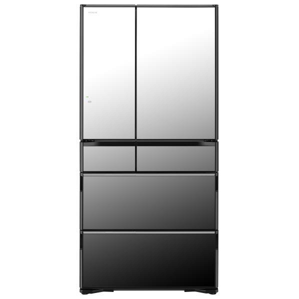 日立 735L 6ドアノンフロン冷蔵庫 ラグジュアリーWXシリーズ クリスタルミラー R-WX74J X [RWX74JX]【RNH】