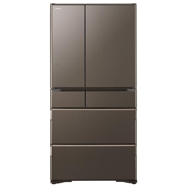 【送料無料】日立 735L 6ドアノンフロン冷蔵庫 ラグジュアリーWXシリーズ グレイッシュブラウン R-WX74J XH [RWX74JXH]【RNH】