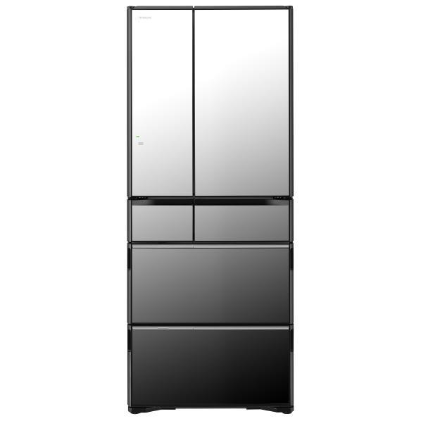 日立 615L 6ドアノンフロン冷蔵庫 ラグジュアリーWXシリーズ クリスタルミラー R-WX62J X [RWX62JX]【RNH】