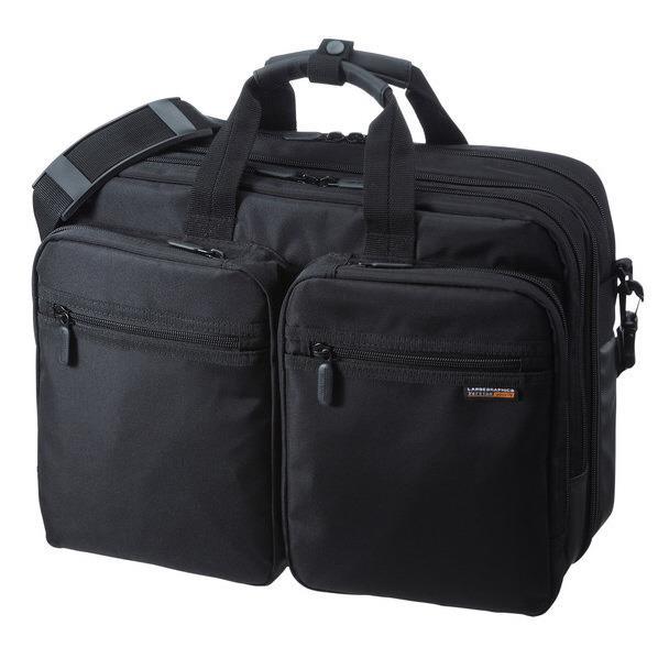 サンワサプライ 3WAYビジネスバッグ(出張用) ブラック BAG-3WAY21BK [BAG3WAY21BK]