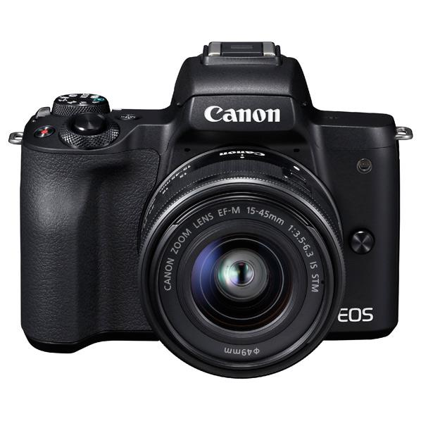 キヤノン デジタル一眼カメラ・EF-M15-45 IS STMレンズキット EOS Kiss M ブラック KISSMBK1545ISSTMLK [KISSMBK1545ISSTMLK]【RNH】