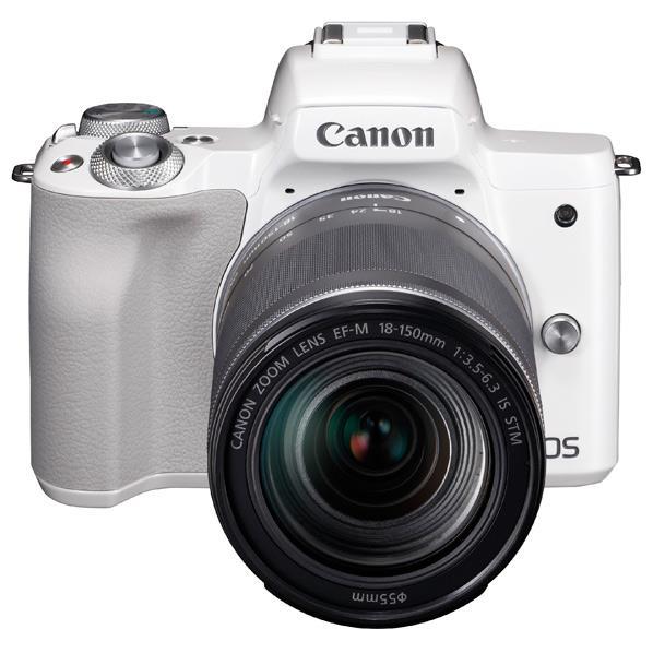 キヤノン デジタル一眼カメラ・EF-M18-150 IS STM レンズキット EOS Kiss M ホワイト KISSMWH18150ISSTM [KISSMWH18150ISSTM]【RNH】