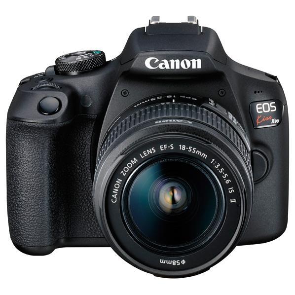 キヤノン デジタル一眼レフカメラ・EF-S18-55 IS II レンズキット EOS Kiss X90 ブラック KISSX901855IS2LK [KISSX901855IS2LK]【RNH】