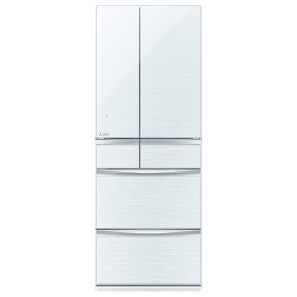 【送料無料】三菱 572L 6ドアノンフロン冷蔵庫 置けるスマート大容量 クリスタルホワイト MR-MX57D-W [MRMX57DW]【RNH】