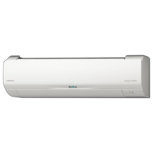 【標準設置工事費込み】日立 6畳向け 自動お掃除付き 冷暖房インバーターエアコン KuaL ステンレス白くまくん スターホワイト RASWM22HE6WS [RASWM22HE6WS]【RNH】