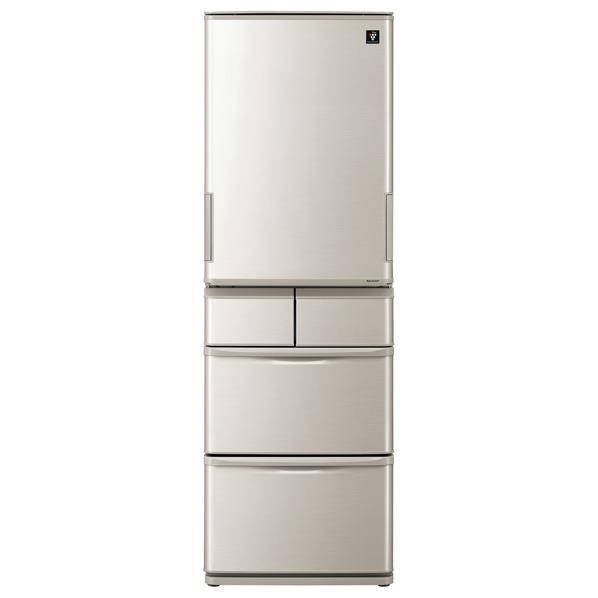 【送料無料】シャープ 412L 5ドアノンフロン冷蔵庫 シルバー系 SJW412DS [SJW412DS]【RNH】