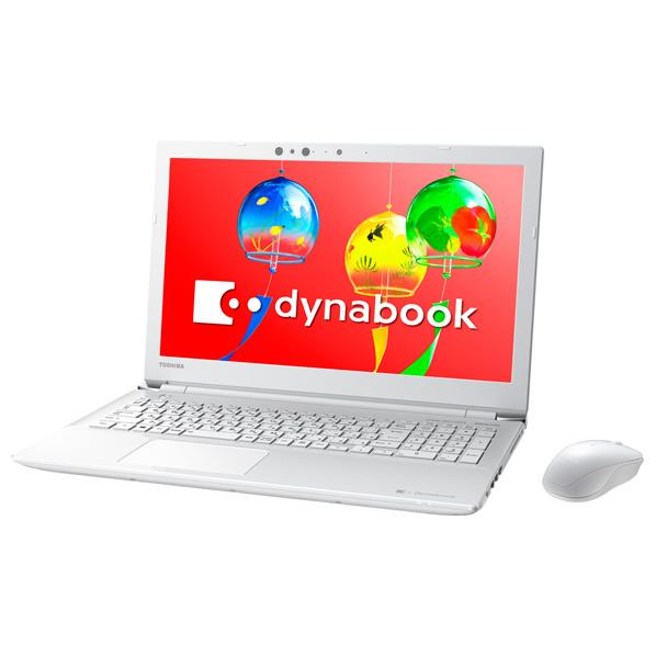 東芝 ノートパソコン KuaL dynabook リュクスホワイト  PT55GWS-SEA3 [PT55GWSSEA3]【RNH】