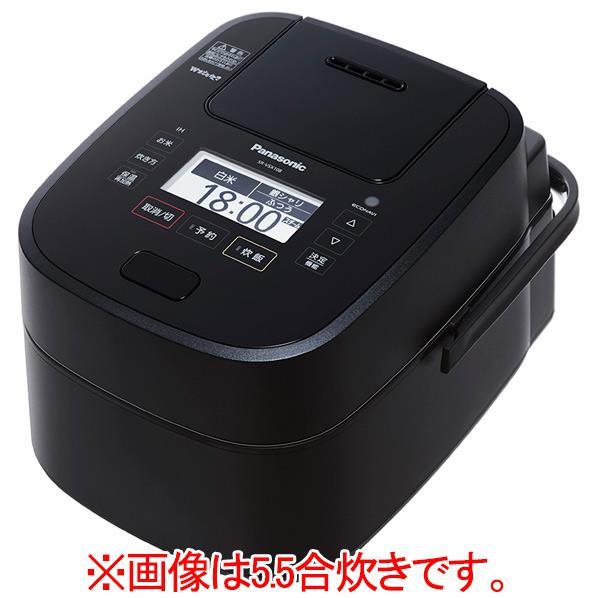 パナソニック スチーム&可変圧力IH炊飯ジャー(1升炊き) Wおどり炊き ブラック SR-VSX188-K [SRVSX188K]【RNH】