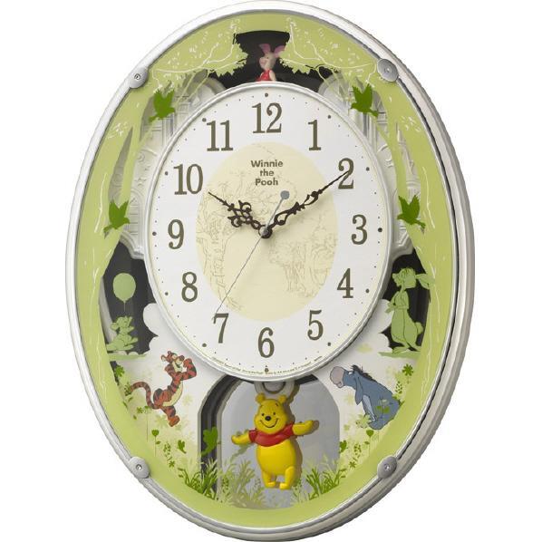 リズム時計 電波掛時計 くまのプーさん Disney くまのプーさん 4MN523MC03 4MN523MC03 電波掛時計 [4MN523MC03], ホビナビ:cdbfcec1 --- sunward.msk.ru