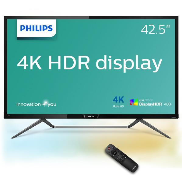 【送料無料】フィリップス 4K対応42.5型ワイド液晶ディスプレイ 436M6VBRAB/11 [436M6VBRAB11]