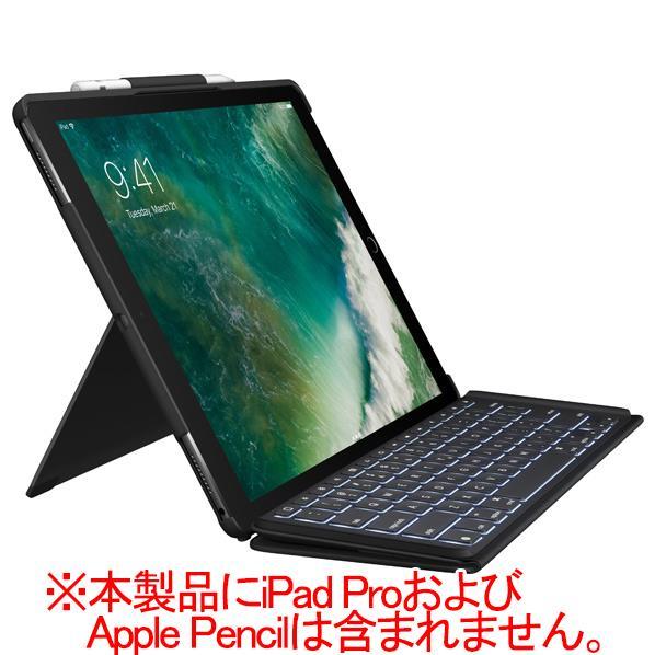 ロジクール 12.9インチiPad Pro用キーボード付きケース SLIM COMBO ブラック IK1272BKA [IK1272BKA]