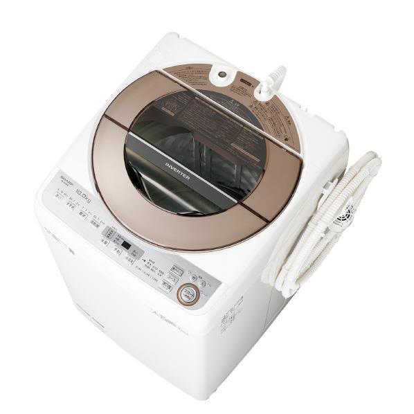 シャープ 10.0kg全自動洗濯機 ブラウン系 ESGV10CT [ESGV10CT]【RNH】