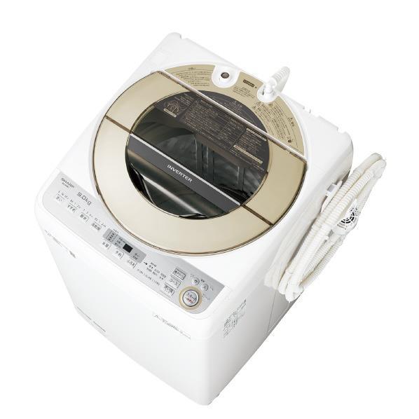 【送料無料】シャープ 9.0kg全自動洗濯機 ゴールド系 ESGV9CN [ESGV9CN]【RNH】