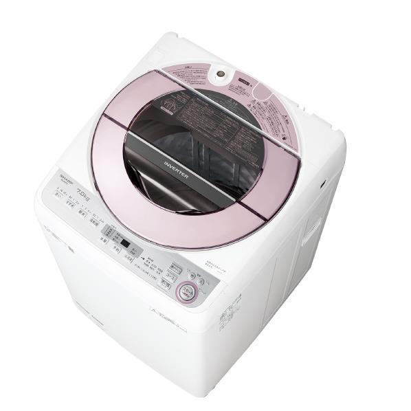 シャープ 7.0kg全自動洗濯機 ピンク系 ESGV7CP [ESGV7CP]【RNH】