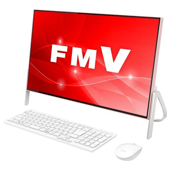 【送料無料】富士通 一体型デスクトップパソコン KuaL ESPRIMO ホワイト×コーラルピンク FMVF52C2PG [FMVF52C2PG]【RNH】