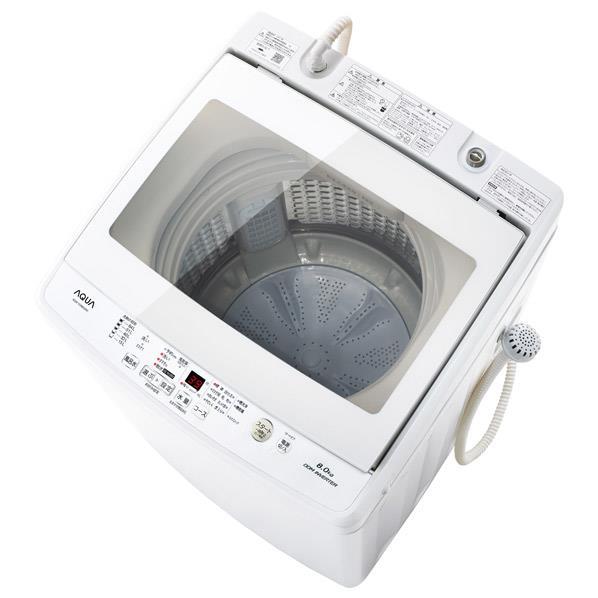 AQUA 8.0kg全自動洗濯機 ホワイト AQW-GV80G(W) [AQWGV80GW]【RNH】