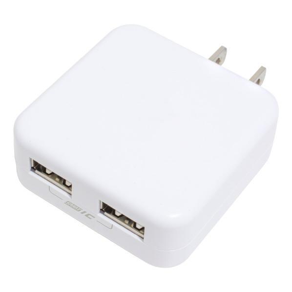 安心のメーカー保証3年間 京ハヤ 2ポート搭載USB充電器 KuaL トラスト JKIQ2400EDWH ホワイト 10%OFF