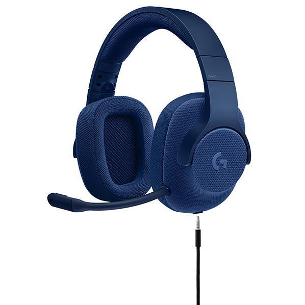 ロジクール 有線ゲーミング ヘッドセット Logicool G ブルー G433BL [G433BL]