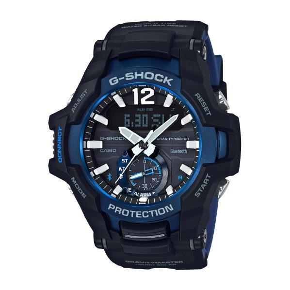 カシオ ソーラー電波腕時計 G-SHOCK Master of G GRAVITYMASTER ブラック・ブルー GR-B100-1A2JF [GRB1001A2JF]