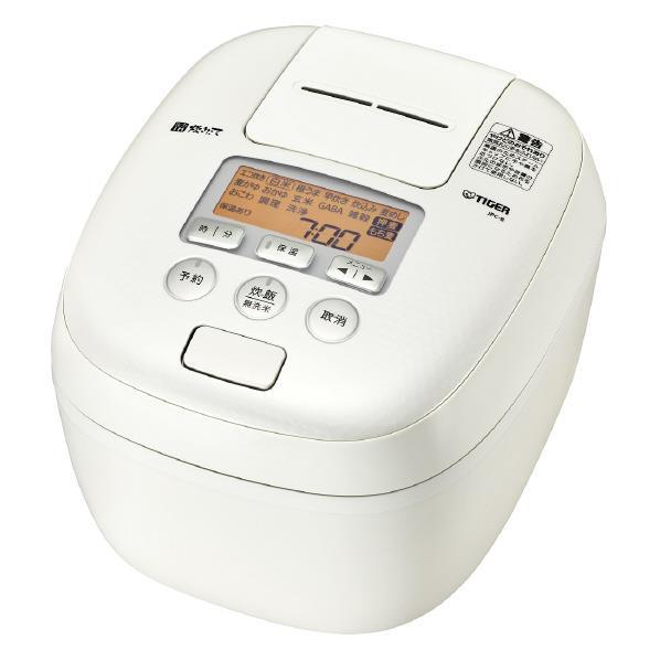タイガー 圧力IH炊飯ジャー(5.5合炊き) 炊きたて ミルキーホワイト JPC-B102-WM [JPCB102WM]【RNH】