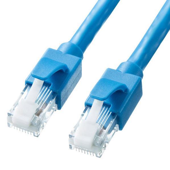 サンワサプライ カテゴリ6A LANケーブル(30m) ブルー KB-T6ATS-30BL [KBT6ATS30BL]【APRP】