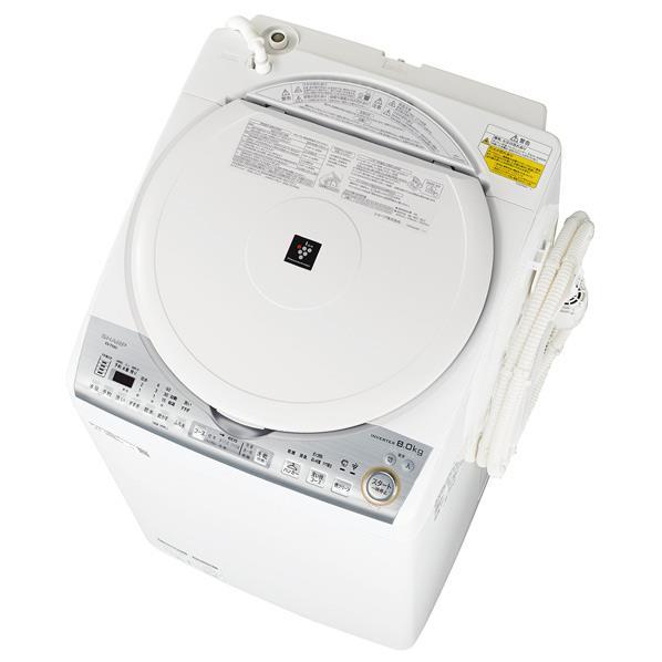 【送料無料】シャープ 8.0kg洗濯乾燥機 ホワイト系 ESTX8CW [ESTX8CW]【RNH】