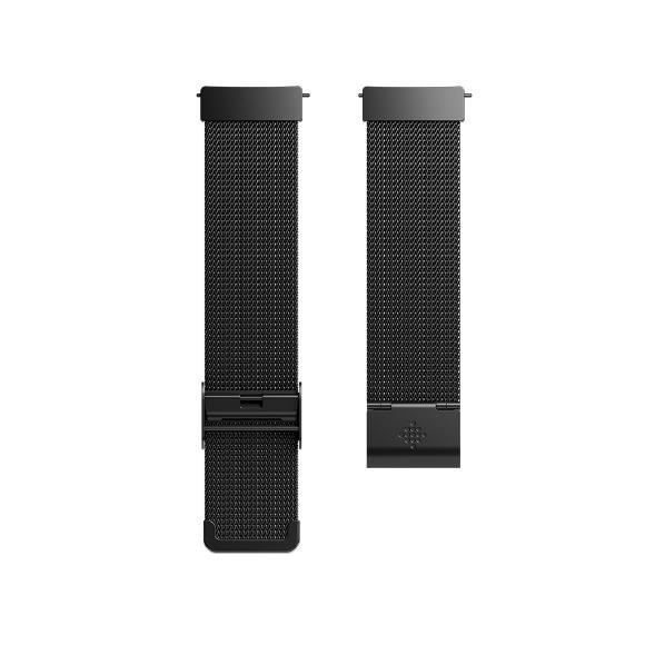 Fitbit Versa専用純正交換用ステンレスリストバンド メタルメッシュブラック FB166MMBK [FB166MMBK]