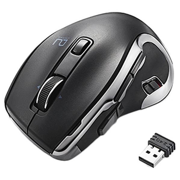 無線2.4GHz Bluetoothの2つの接続方法で パソコン2台を1つのマウスで操作できるハードウェアマクロ搭載マウス エレコム ハードウェアマクロ搭載マウス ブラック M-DC01MBBK MDC01MBBK 2台切替 Lサイズ �い素材 公式ショップ