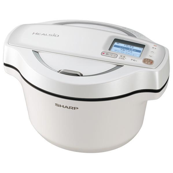 シャープ 水なし自動調理鍋(1.6L) ヘルシオホットクック ホワイト KNHW16DW [KNHW16DW]