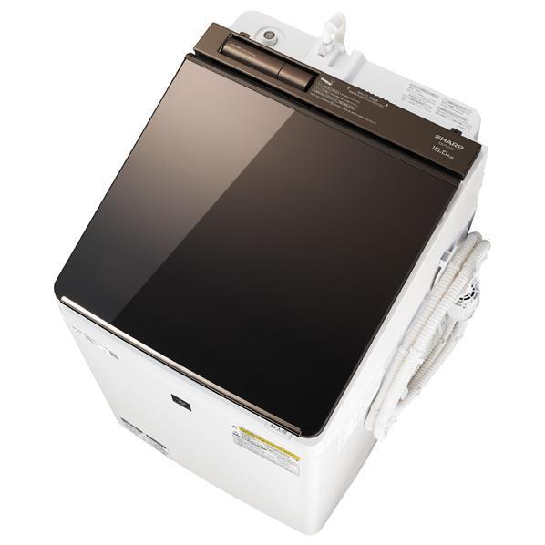 シャープ 10.0kg洗濯乾燥機 ブラウン ESPU10CT [ESPU10CT]【RNH】