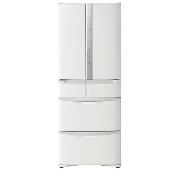 日立 505L 6ドアノンフロン冷蔵庫 パールホワイト R-F51M3 W [RF51M3W]【RNH】