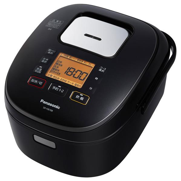 パナソニック IH炊飯ジャー(5.5合炊き) ブラック SR-HB108-K [SRHB108K]【RNH】