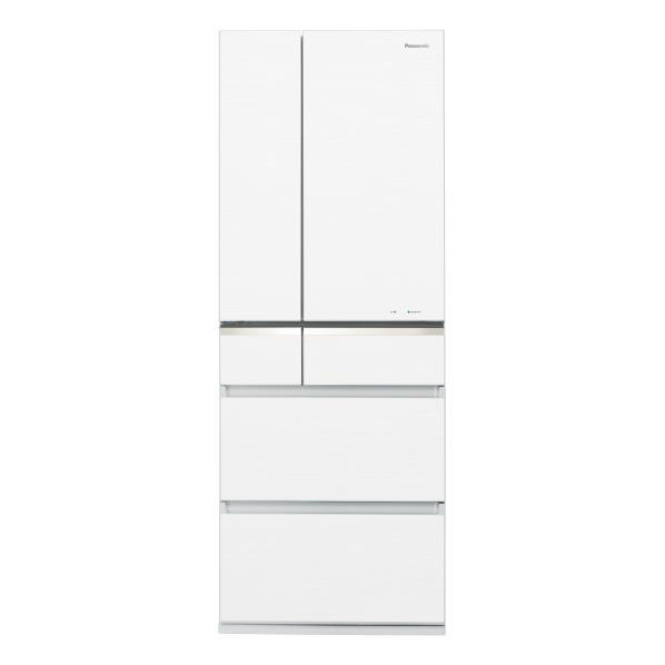 パナソニック 501L 6ドアノンフロン冷蔵庫 スノーホワイト NR-F504GV-W [NRF504GVW]【RNH】