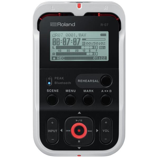 【送料無料】ローランド オーディオレコーダー High Resolution Audio Recorder ホワイト R-07(WH) [R07WH]
