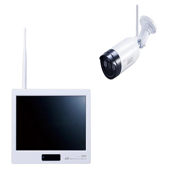 日本アンテナ ワイヤレスセキュリティカメラタッチパネルモニターセット ドコでもeye Security FHD ホワイト SC05ST [SC05ST]