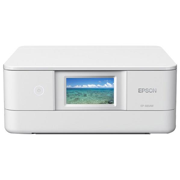 エプソン インクジェット複合機 colorio ホワイト EP-881AW [EP881AW]【RNH】
