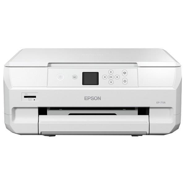 エプソン インクジェット複合機 colorio ホワイト EP-711A [EP711A]【RNH】