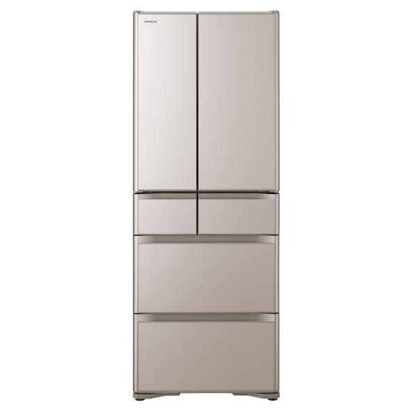 日立 555L 6ドアノンフロン冷蔵庫 真空チルド XGシリーズ クリスタルシャンパン R-XG56J XN [RXG56JXN]【RNH】